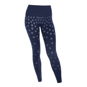 Run & Relax-Seamless Star Tights-Midnight Blue